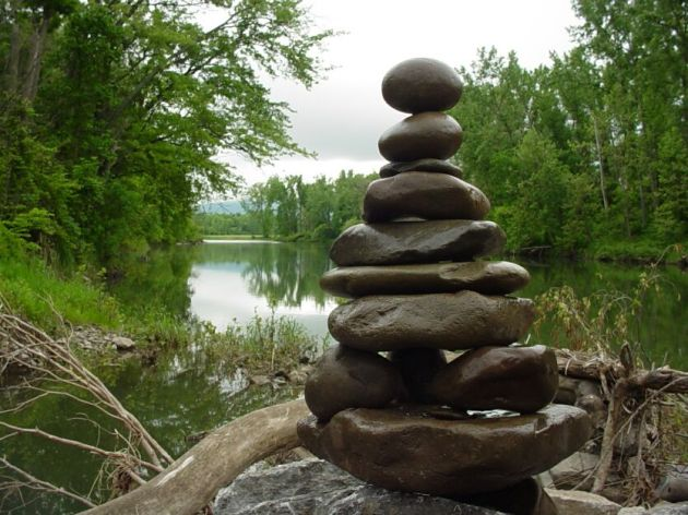 Rock Stacking -wet